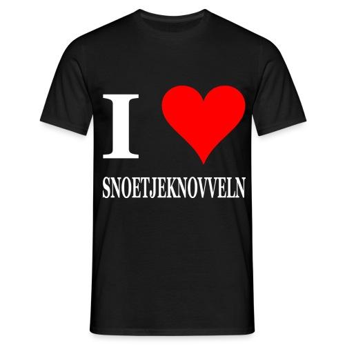 I love snoetjeknovveln zoenen - Mannen T-shirt