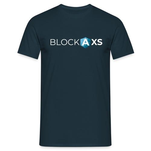 BlockAxs weiß - Männer T-Shirt