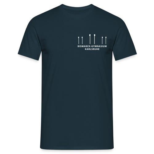 brustaufdruck skullslogoklein mit schrif - Männer T-Shirt