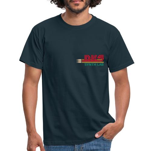 DKS SYNTH LAB Flat Red-Green - Maglietta da uomo