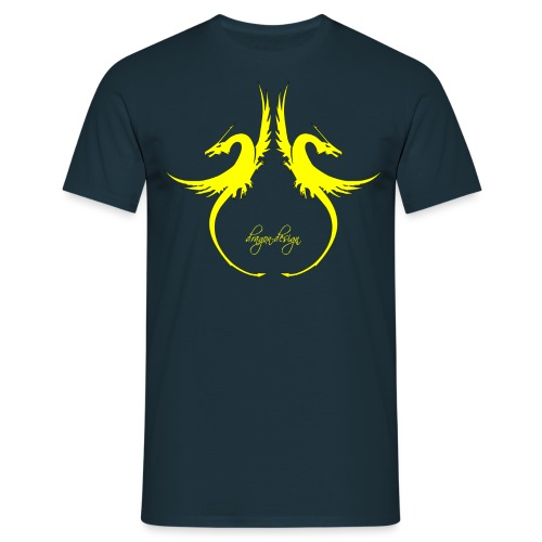 yellow-dragon-dance_01 - Männer T-Shirt