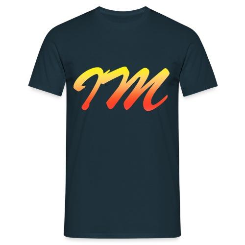 Orange Gradient Stylised IM logo png - Men's T-Shirt