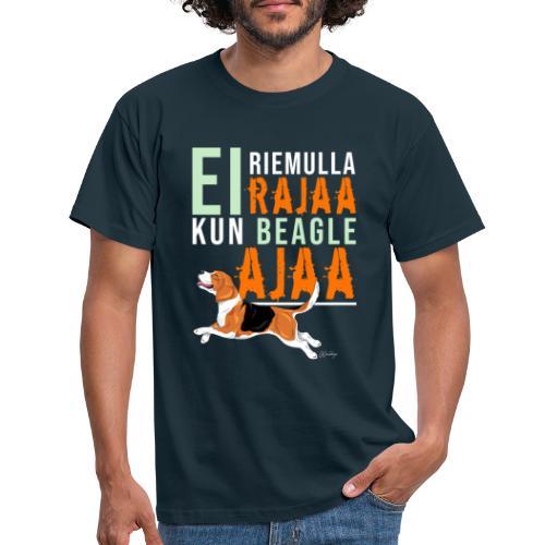 Riemulla Rajaa Beagle - Miesten t-paita