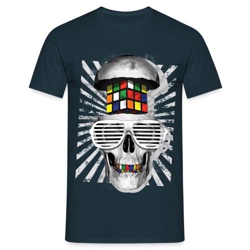 Rubik's Skull Cube - Men's T-Shirt