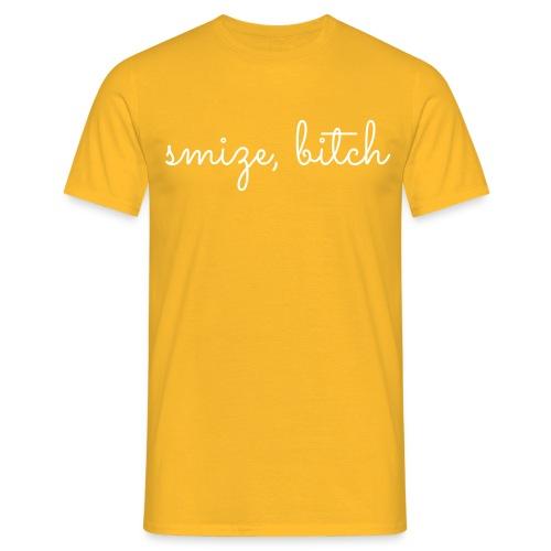 smize bitch - Mannen T-shirt