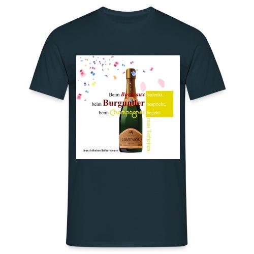 Champagner - Männer T-Shirt