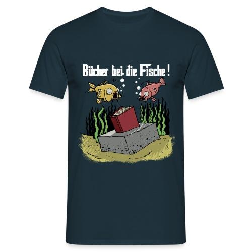 Bücher bei die Fische weiss png - Männer T-Shirt