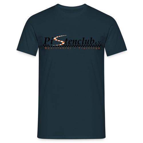 PistenclubLogoNeuSchwarz eps - Männer T-Shirt