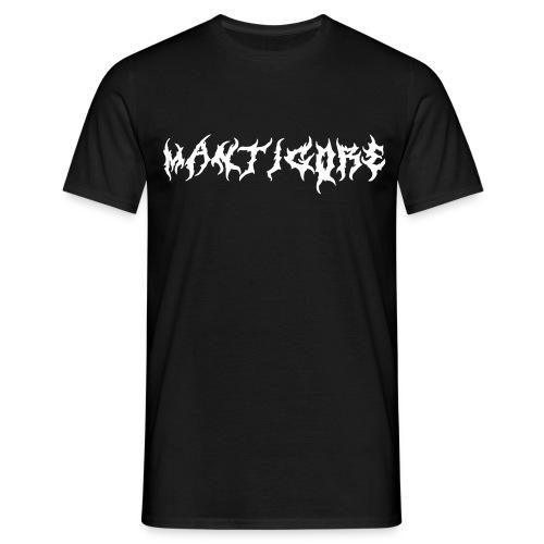 Mantigore Logo Black - Männer T-Shirt
