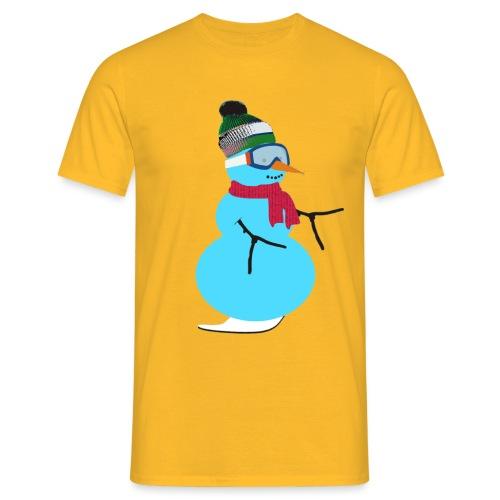 Snowboarding snowman - Miesten t-paita