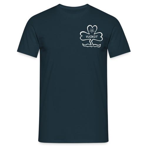 vuokkologo valkoinen - Miesten t-paita