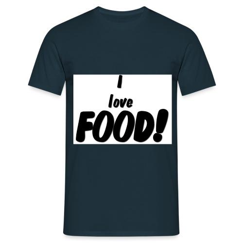 I love FOOD - T-skjorte for menn
