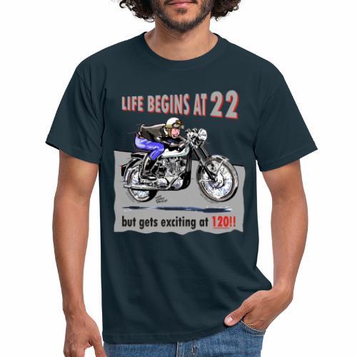 classic life begins at 22 - Men's T-Shirt