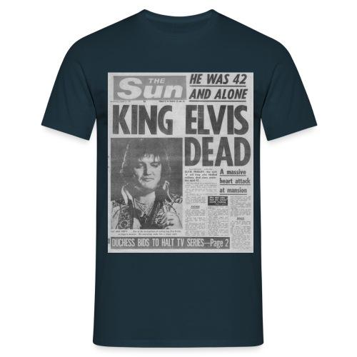King Elvis Dead FP BW - Men's T-Shirt