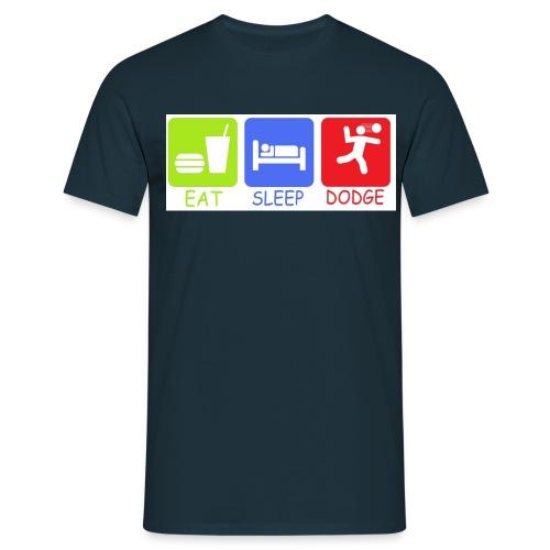 eat sleep dodge - Men's T-Shirt