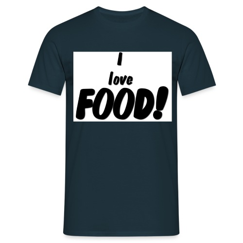 I love FOOD - T-skjorte for menn