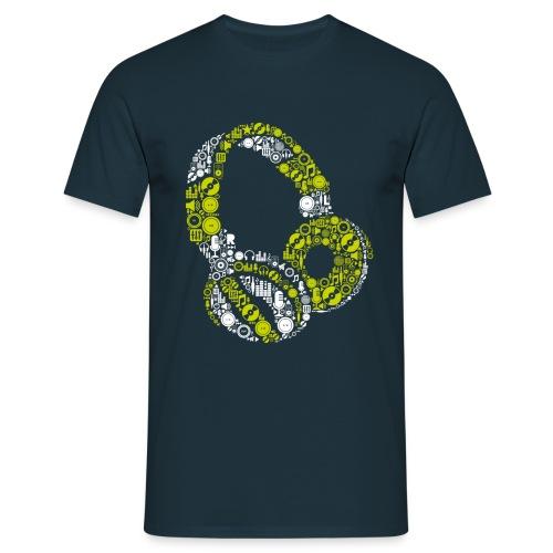 Headphone green - T-shirt Homme