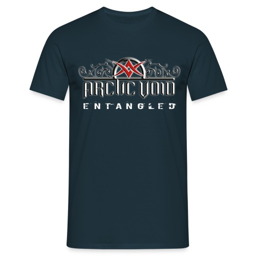 ArcticVoid loggo vitglow text png - T-shirt herr
