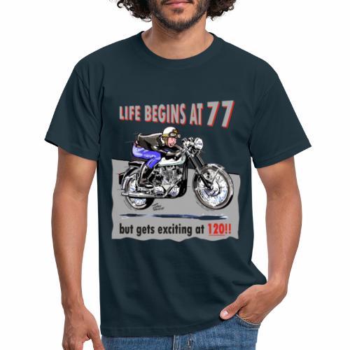 classic life begins at 77 - Men's T-Shirt