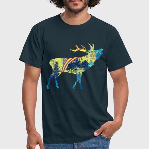 Cerf dans la forêt - T-shirt Homme