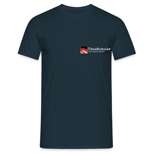 Tauchrevier Deutschland Logo classic weiß - Männer T-Shirt