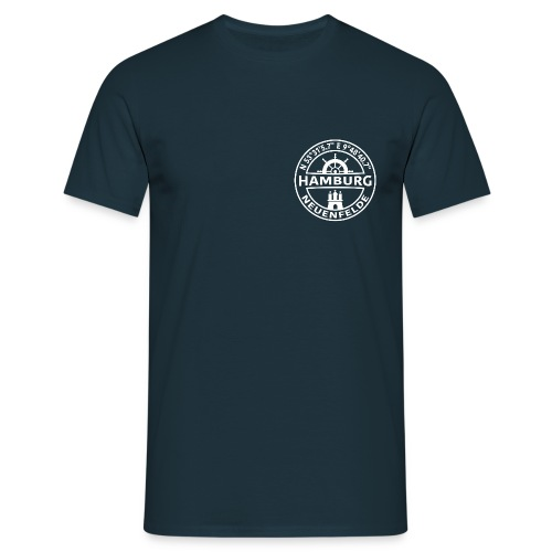 Ham-Neuf-GPS_V2_weiß1 - Männer T-Shirt