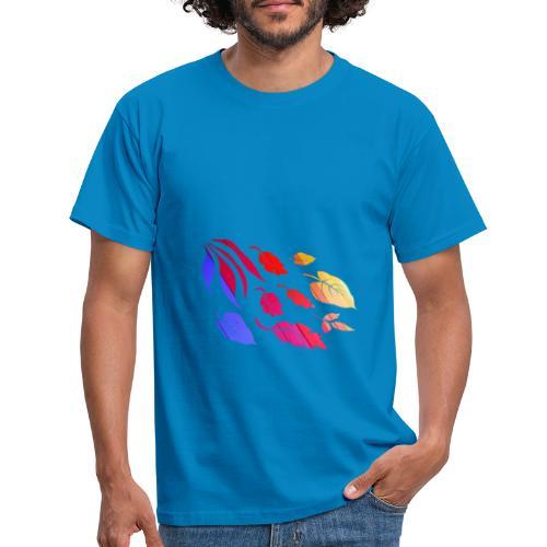 Natur Blätter Regenbogen - Männer T-Shirt