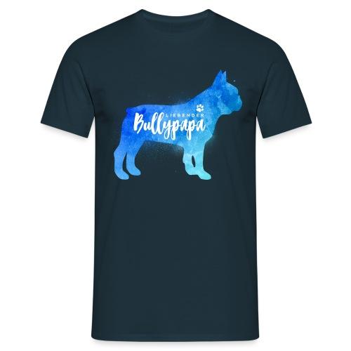 Liebender Bullypapa - Französische Bulldogge - Männer T-Shirt