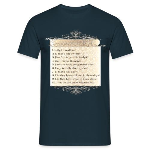 FAQ Victorian final png - Men's T-Shirt
