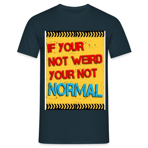 WARNING NORMAL A4 TSHIRT - Men's T-Shirt