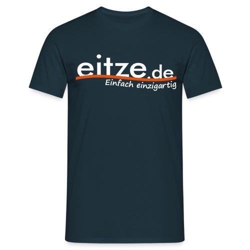 eitze.de Logo weiss - Männer T-Shirt