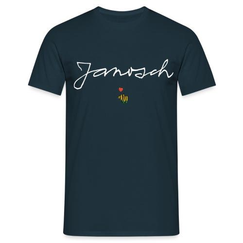 Janosch Schriftzug mit Tigerente - Männer T-Shirt