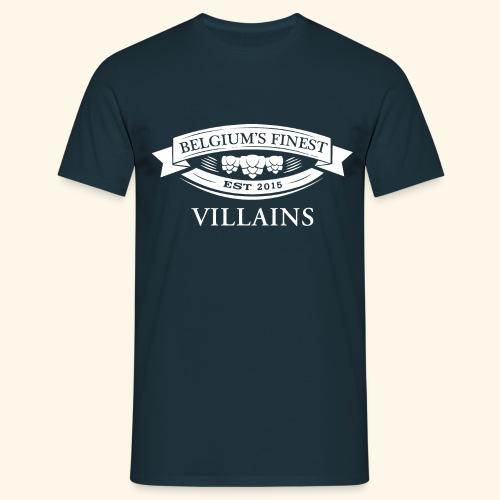 BelgiumFinestEst2015Villains full white - Men's T-Shirt