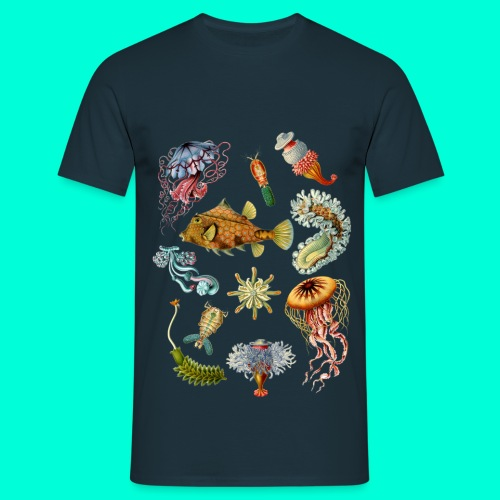 Haeckel vit - T-shirt herr