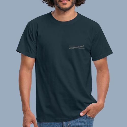 bUGbUs LOGO Typo + Mann - Männer T-Shirt