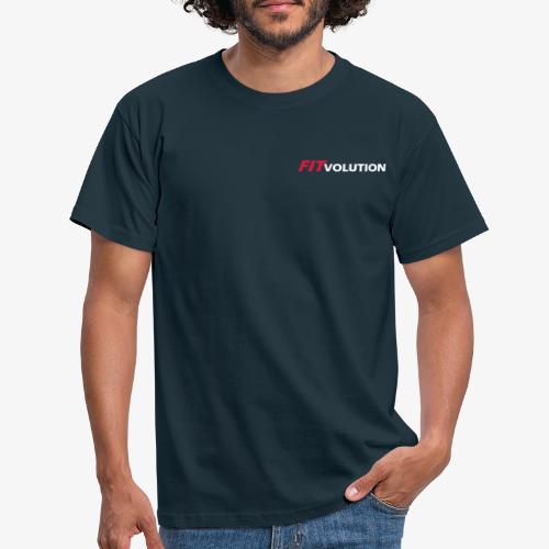 Kleines, weißes Fitvolution-Logo - Männer T-Shirt