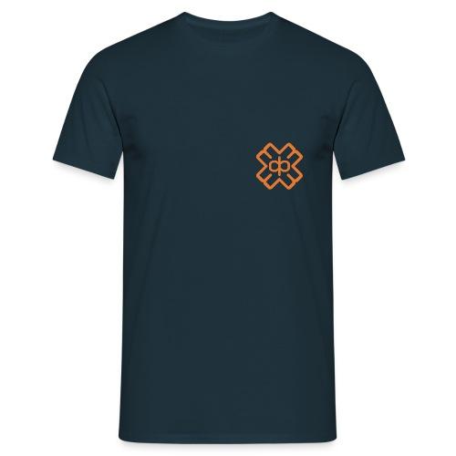 d3ep-logo-orange - Men's T-Shirt