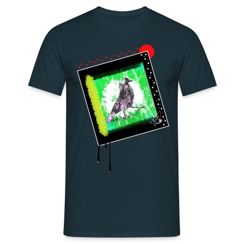 One Cool Bird by BlackenedMoonArts, w. logo - Herre-T-shirt
