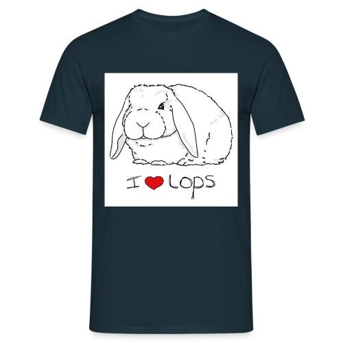 I Love Lops 2 - Men's T-Shirt