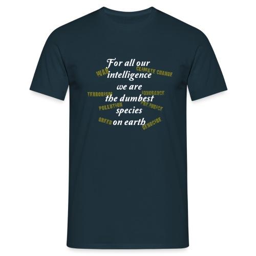 forAllOurIntelligence whi - Men's T-Shirt