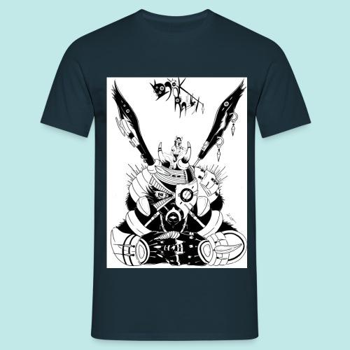 Fille manga lapin géant armure noire steampunk - T-shirt Homme