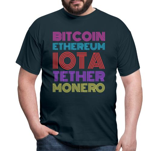 Retro Crypto | Bitcoin, Ethereum, IOTA, Tether - Männer T-Shirt