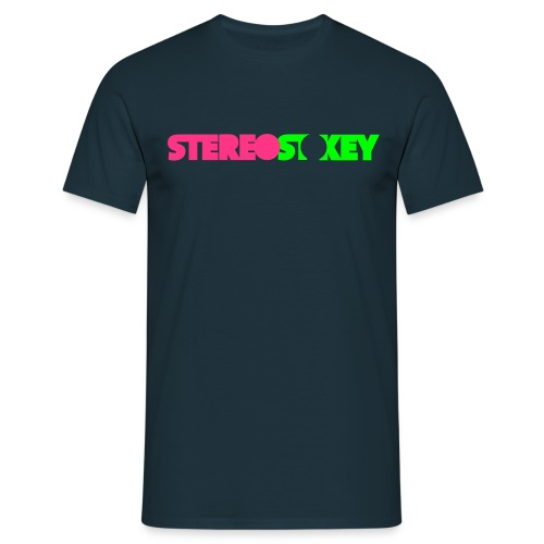 Pink Green Logo - Men's T-Shirt