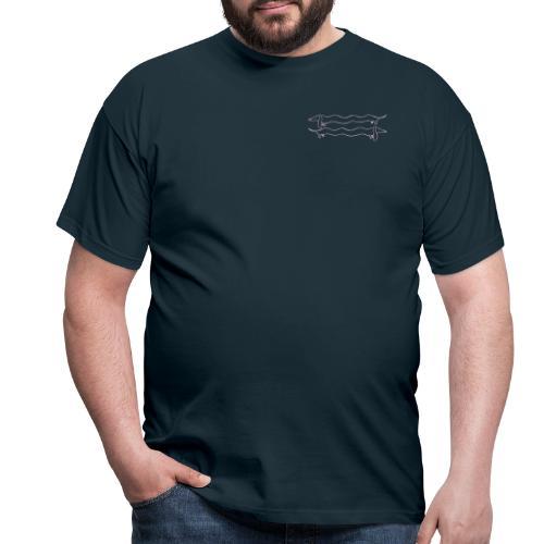 2 Dackel rosa - Männer T-Shirt