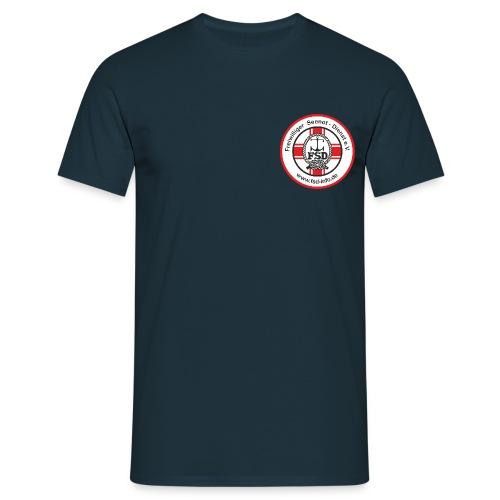 Aufkleber_rund_rot_Intern - Männer T-Shirt