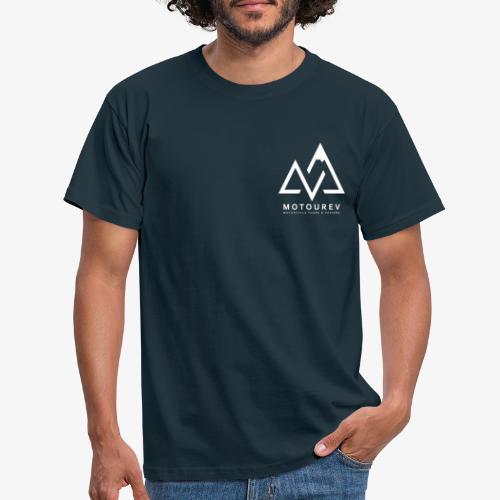 White MOTOUREV Small LOGO - Men's T-Shirt
