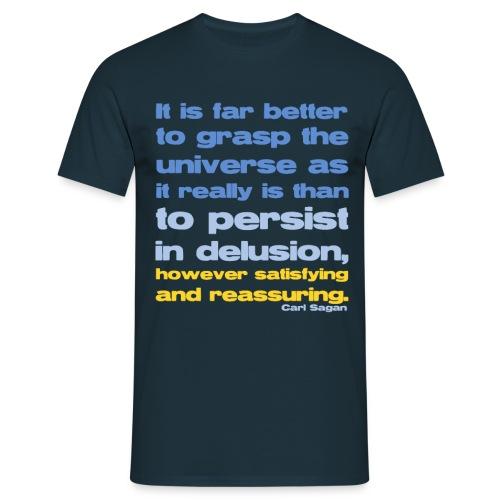 Carl Sagan Grasp the Universe - Men's T-Shirt