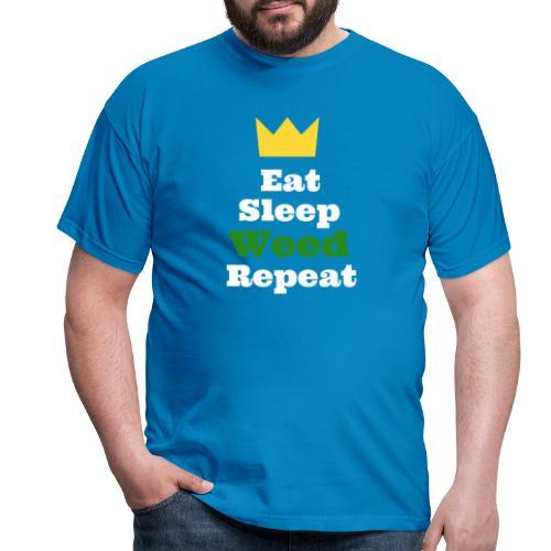Eat Sleep Weed Repeat Tees by SeSQoOo - Men's T-Shirt