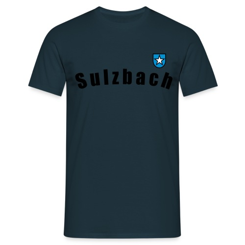 wappensulzbach schwarz - Männer T-Shirt
