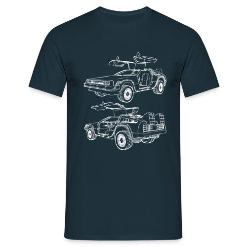 Delorean Time Machine - Men's T-Shirt